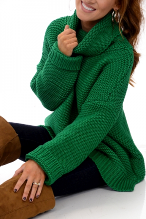 Chunky Turtleneck, Green