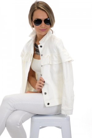 Livvy Denim Jacket, White
