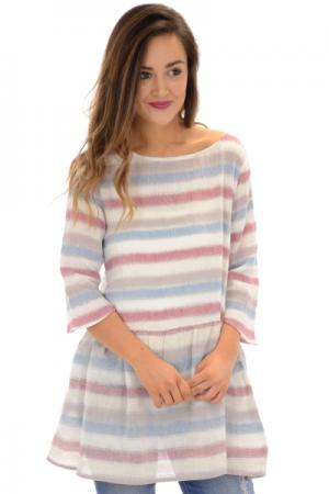 Amie Striped Tunic, Blue