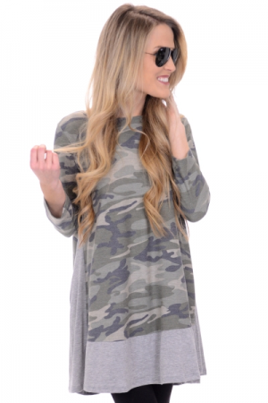 Contrast Army Tunic