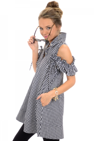 Sun Soaked Gingham Dress
