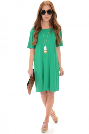 Jess Bamboo Dress, Green