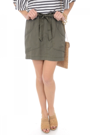 Tencel Skirt, Olive