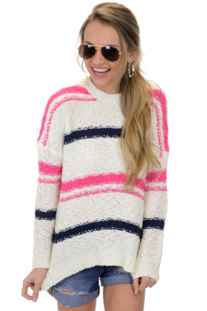 Audrena Striped Sweater