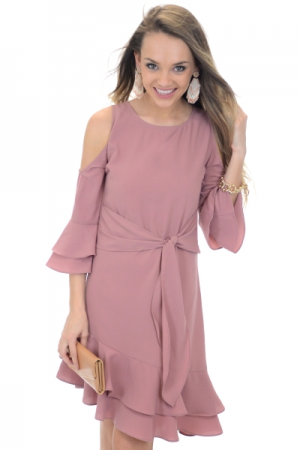 Day Port Dress, Mauve