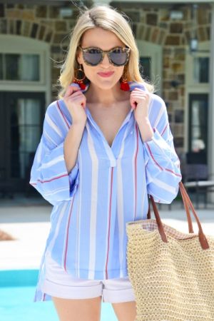 Mixed Up Striped Shirt