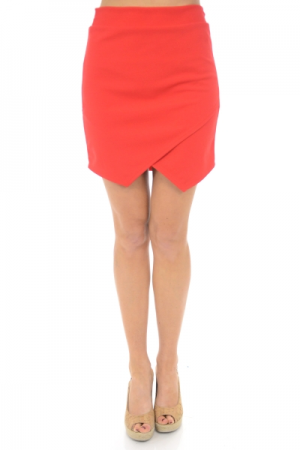 Lola Envelope Skirt, Red