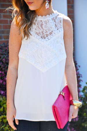 Gemma Lace Top, Off White