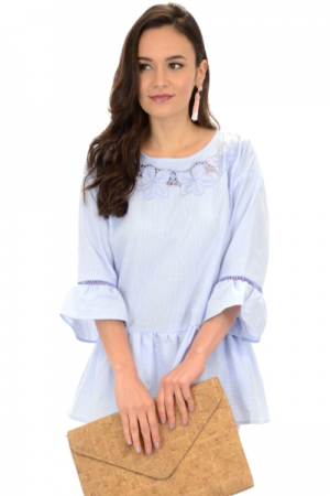 Blue Belle Embroidered Tunic