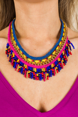 Threaded Seed Bead Necklace