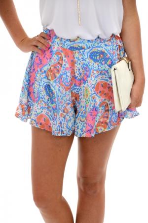 Adrey Shorts, Paisley