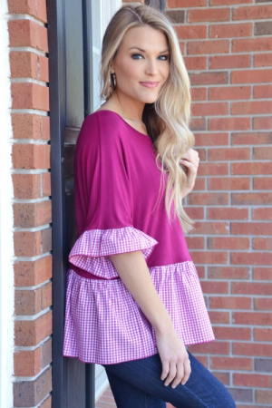 Bring in the Gingham Top