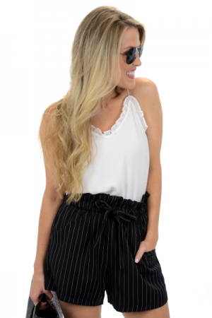 In Line Shorts, Black