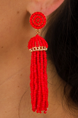 Cruise Cutie Earring, Red