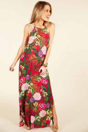 Tropical Days Maxi, Magenta