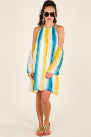 Gradient Stripes Dress