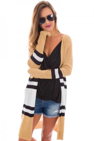 Ellory Striped Cardigan