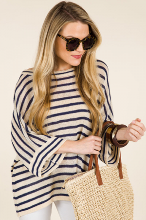 Relaxed Stripe Sweater