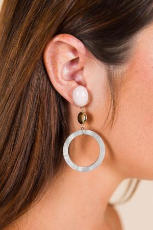 Double Time Earring, Grey