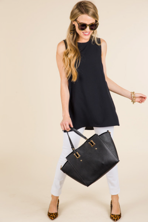 Tripp Sleeveless Top, Black