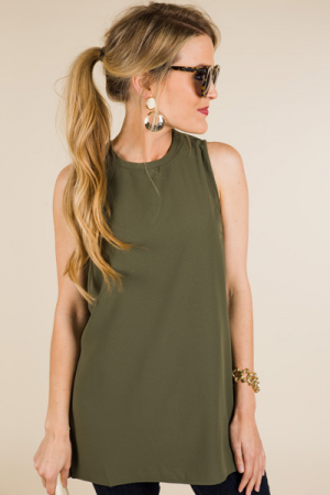 Tripp Sleeveless Top, Green