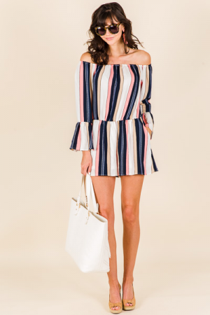 Striped Playa Romper