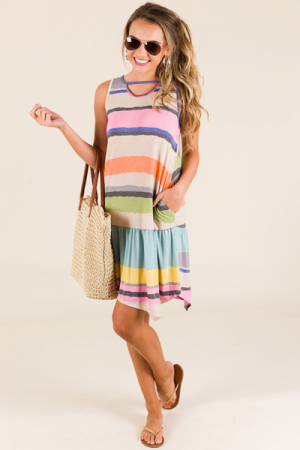 Playful Stripes Sundress