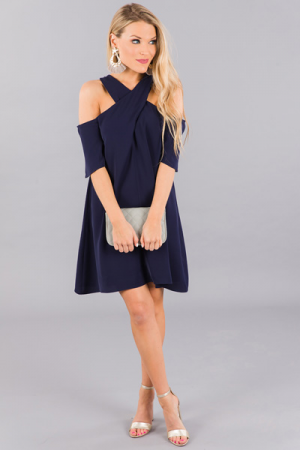 Naomi in Navy Dress