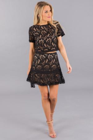 Sandune Lace Set, Black