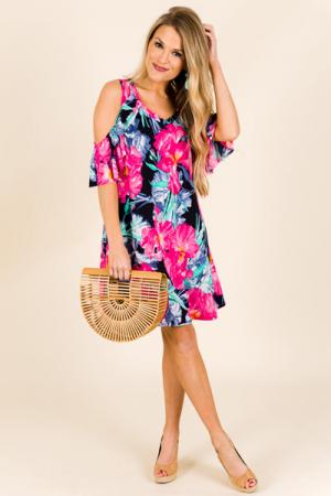 Maui Cold Shoulder Dress
