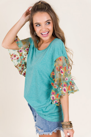 Wistful Thinking Top, Jade
