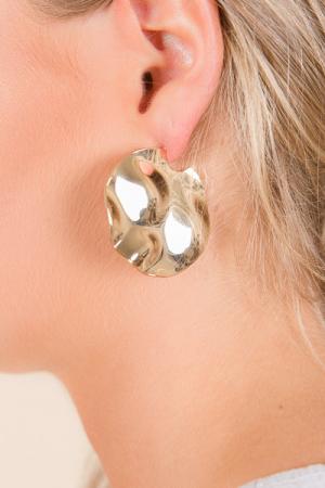 Golden Disc Earrings