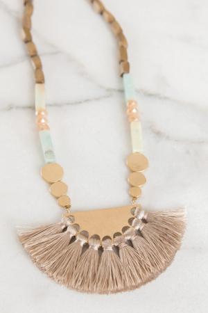 Island Vibes Tassel Necklace