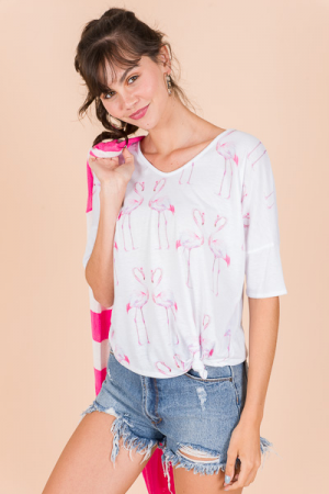 Knotted Flamingo Tee