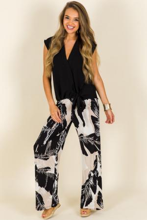 Black Palms Pants
