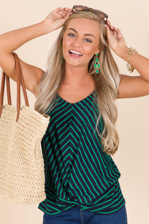 Twisted Striped Cami