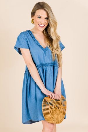 Oversized Chambray Dress