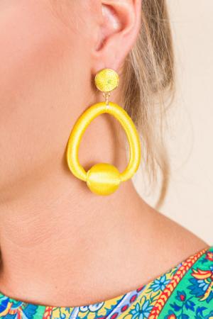 Trapeze Earring, Yellow
