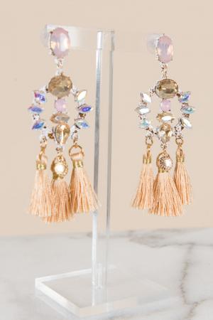 Champagne Tassel Earrings