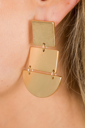 Shape of You Earring, Gold