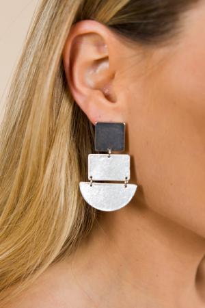 Shape of You Earring, Silver