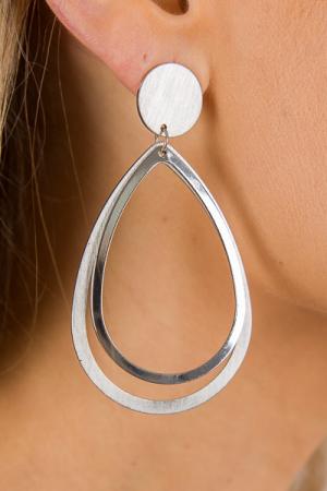 Perfect Teardrop Ear, Silver