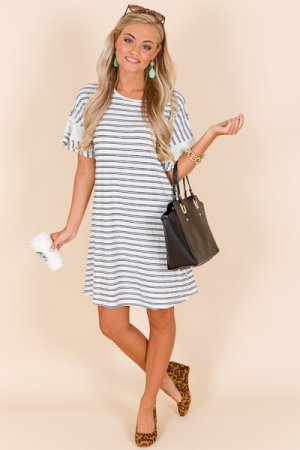 Corinne Dress, Stripes