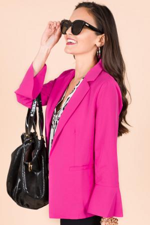 Aubrey Blazer, Hot Pink