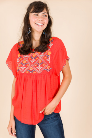 Sunny Embroidery Top