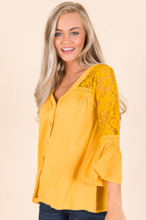 Solange Blouse, Mustard