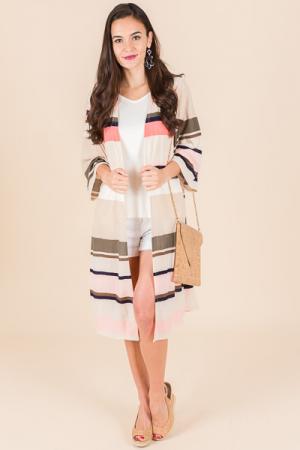 Kassandra Colorblock Kimono