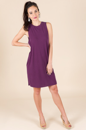 Modal Tank Dress, Purple