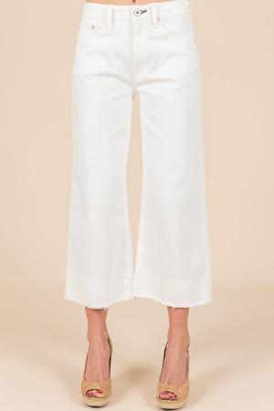 Wide Leg Jeans, Cream