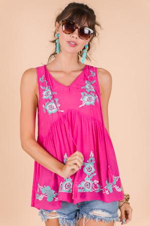 Sweet Summer Tank, Pink